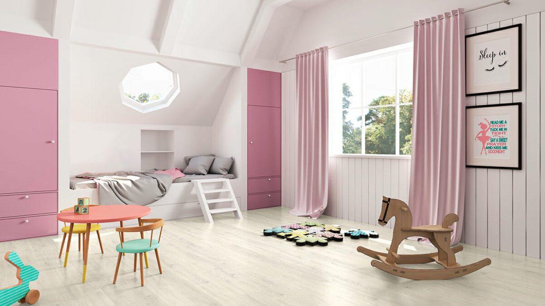 suelo de vinilo en el dormitorio de los niños